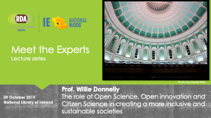 Information graphic RDA Meet the Experts Series: Willie Donnelly