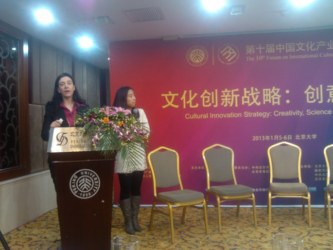 Sandra Collins at China's Forum on International Cultural Industries
